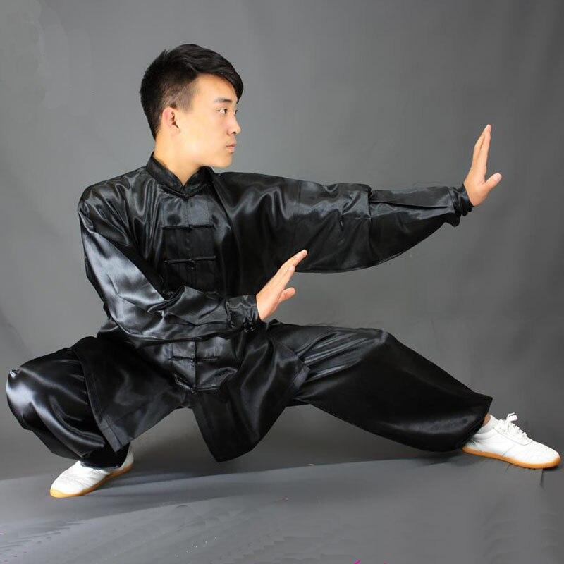 USHINE HX11 White Black Yellow Tai Chi Performance Clothing Long-sleeve KungFu Uniform Wushu TaiChi Uniform Children Man Woman