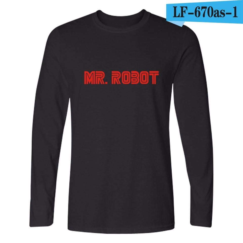 Punk style Mr robot fsociety camiseta para hombres mujeres manga ... 549a6235f32