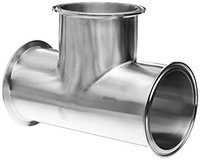 4 inch Tri Clamp Tee Stainless Steel