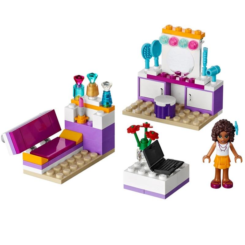 10153 Friends For Girl 74 piezas de bloques de construcción para el dormitorio de Andrea, juguetes educativos compatibles con LegoINGly Friends House 41009