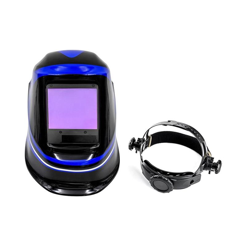 DEKO MZ232 Solar Powered Schweiß Helm Auto Verdunkelung Professionelle Haube Breiten Objektiv Einstellbar Schatten Palette 4/9-13 für Mig tig