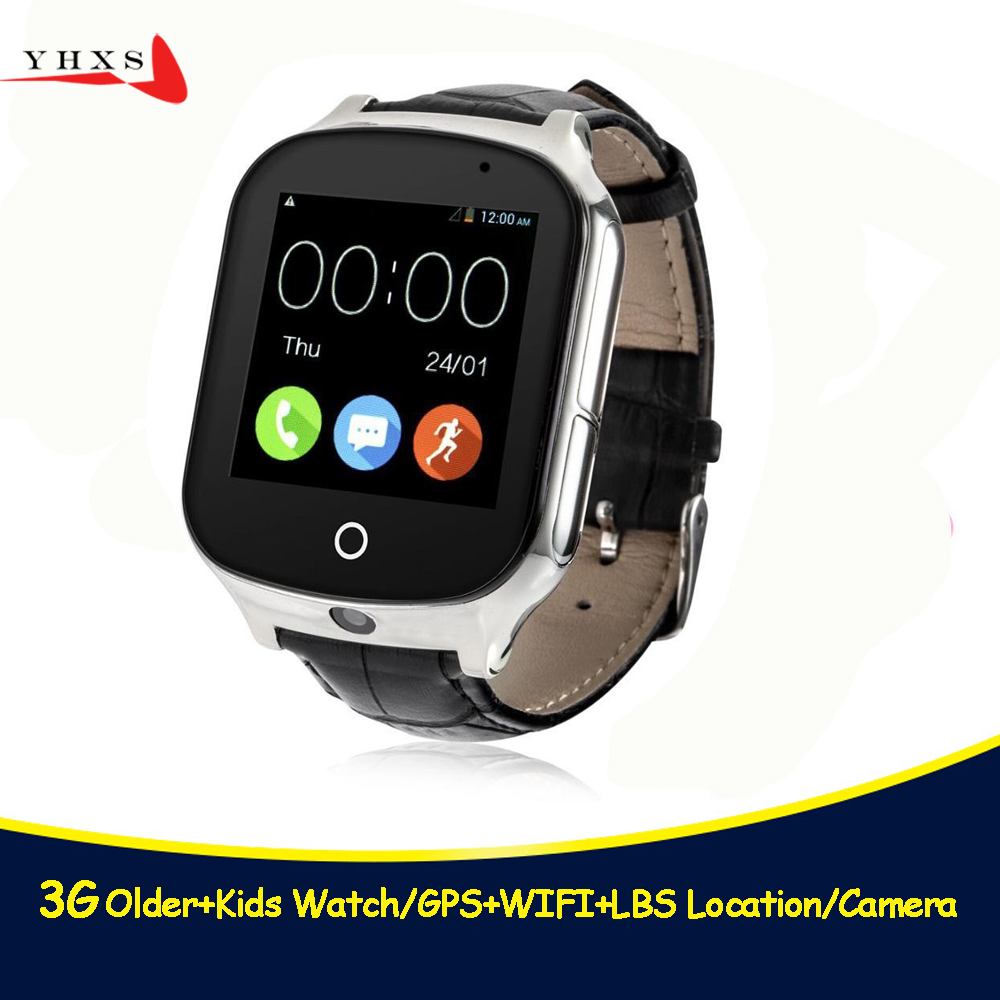 Smart Safe 3G WCDMA Remote Camera GPS LBS WIFI Location Tracker SOS Monitor Child Elder Kids Watch Wristwatch 1.54 Touch Screen smart remote camera gps lbs wifi location 1 54 touch screen kid elder child 3g sos call monitor tracker alarm watch wristwatch