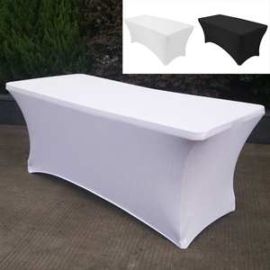 Tablecloth-Decoration Birthday-Table-Cover Buffet Hotel Spandex Wedding Cocktail High-Stretch