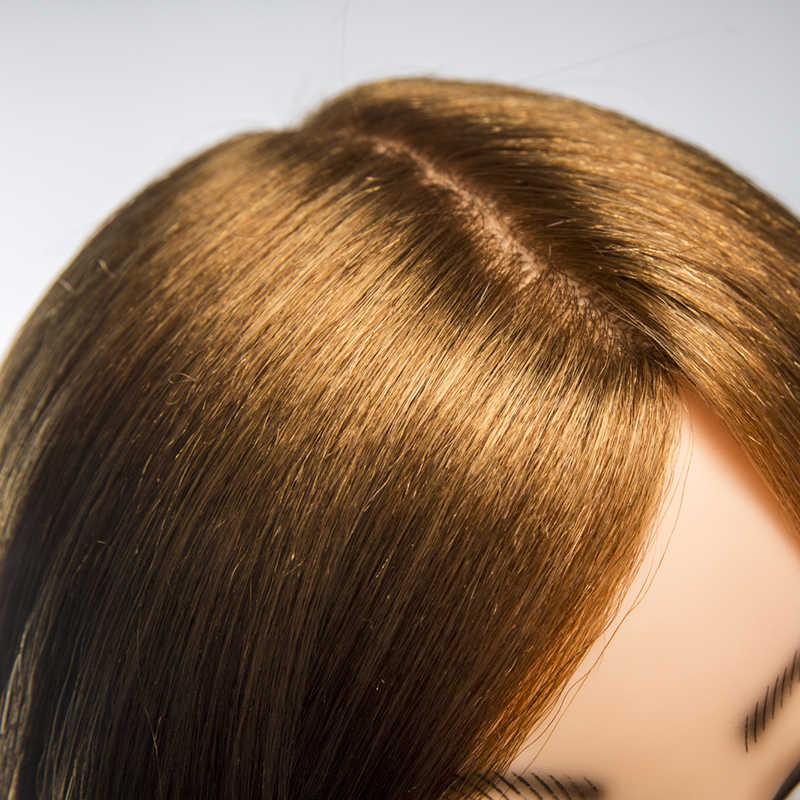 Qoxi szkolenie zawodowe głowy z ramionami 80% prawdziwe ludzkie włosy mogą być zwinięte praktyka manekin fryzjerski lalki stylizacja