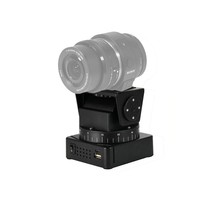 Orsda YT-260 Motorized Remote Control Pan Tilt with Tripod Mount Adapter for Extreme Camera Wifi Camera and Smartphone