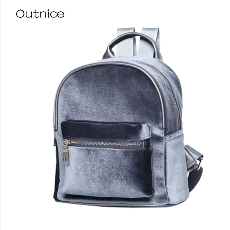Autumn winter fashion velvet small women backpack for teenagers girls school bags plush feminine backpacks mochila feminina children school bag minecraft cartoon backpack pupils printing school bags hot game backpacks for boys and girls mochila escolar