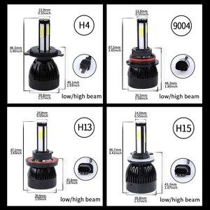 Image 4 - H4 led headlight 9004 9007 H13 H15 cob auto led Car Bulb 6000K 12V lampada light source waterproof aluminume H4 lamp