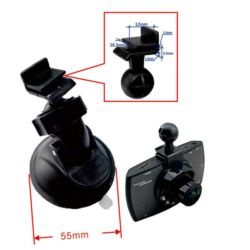Fumalon Car dvrs mount holder for g30 DVR holder,fumalon suction cup dvr mount for GT300 car dvr 1pc-in DVR universal car support holder for suction cup mount black