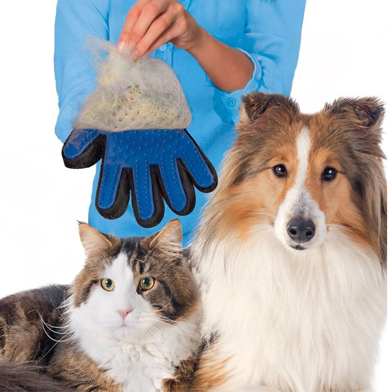 Dog Brush Glove Pet Animal Cat Deshedding Brush Bath Cleaning Massage Silicone Gloves Cleaning Tools Pet Cat Silicone Cat Brush