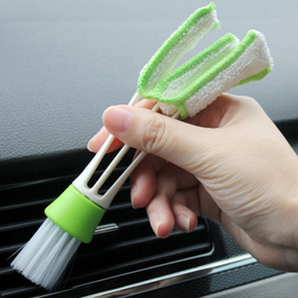 16.5 cm Plastic Double Ended Auto Car Air Conditioner Vent Outlet Cleaning Brush Auto Cleaning Car Accessories Duster Brushes цена
