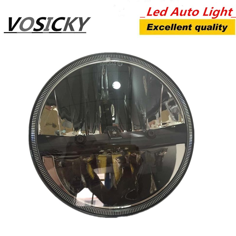VOSICKY 7 inch Motorcycle Headlight H4 H13 Hi-Lo Beam 40W 6000k For Harley Electra Glide Street Glide Road King& Trike 7 inch motorcycle led headlight hi lo beam assemblies lamp projector for harley
