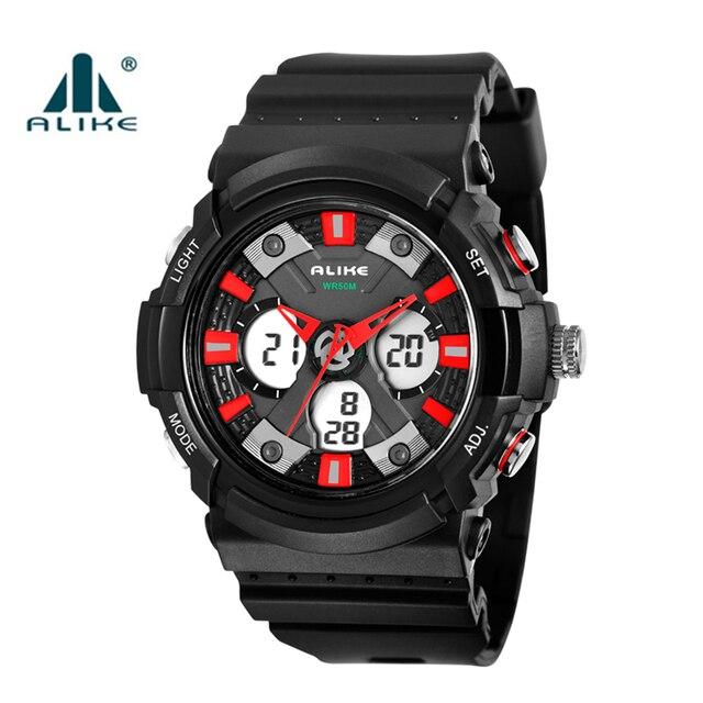 2016 nueva alike marca hombres led digital relojes militares moda hodinky hombres deportes reloj de buceo de natación relojes de pulsera informal al aire libre