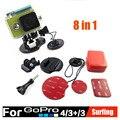 GoPro Acessórios Kit 8 em 1 set Monte Verão Underwater Surfing Prancha surf auto vara para gopro hero 4 3 + 3 2 1 xiaomi yi