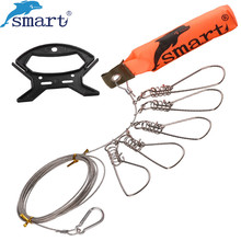 5M Live Fish Buckle Stainless Steel Lock Belt Fishing Tackle Tool Chain Stringer with Floats Pesca Fishing Accessories Peche