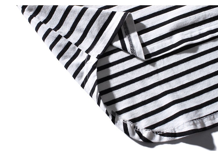 Aolamegs Tank Tops Men Extended Black White Striped Tee Sleeveless T Shirts Homme 2017 Spring Summer Hip Hop Fashion Streetwear (16)