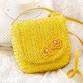 Veevan 2016 nova de tecelagem de verão Floral praia bolsa doce cor mulheres mensageiro saco Mini saco bolsa