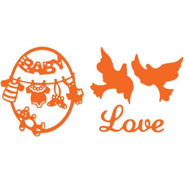 Baby Shower Egg Birds Love Metal Cutting Dies Craft Paper Decorative  Embossing Stencils Diy Scrapbooking Album