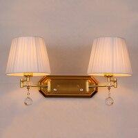 Регулируемый двойной Arm бра диммер настенный светильник Винтаж настенный светильник спальня прихожая бра тканевый чехол трековые светильн