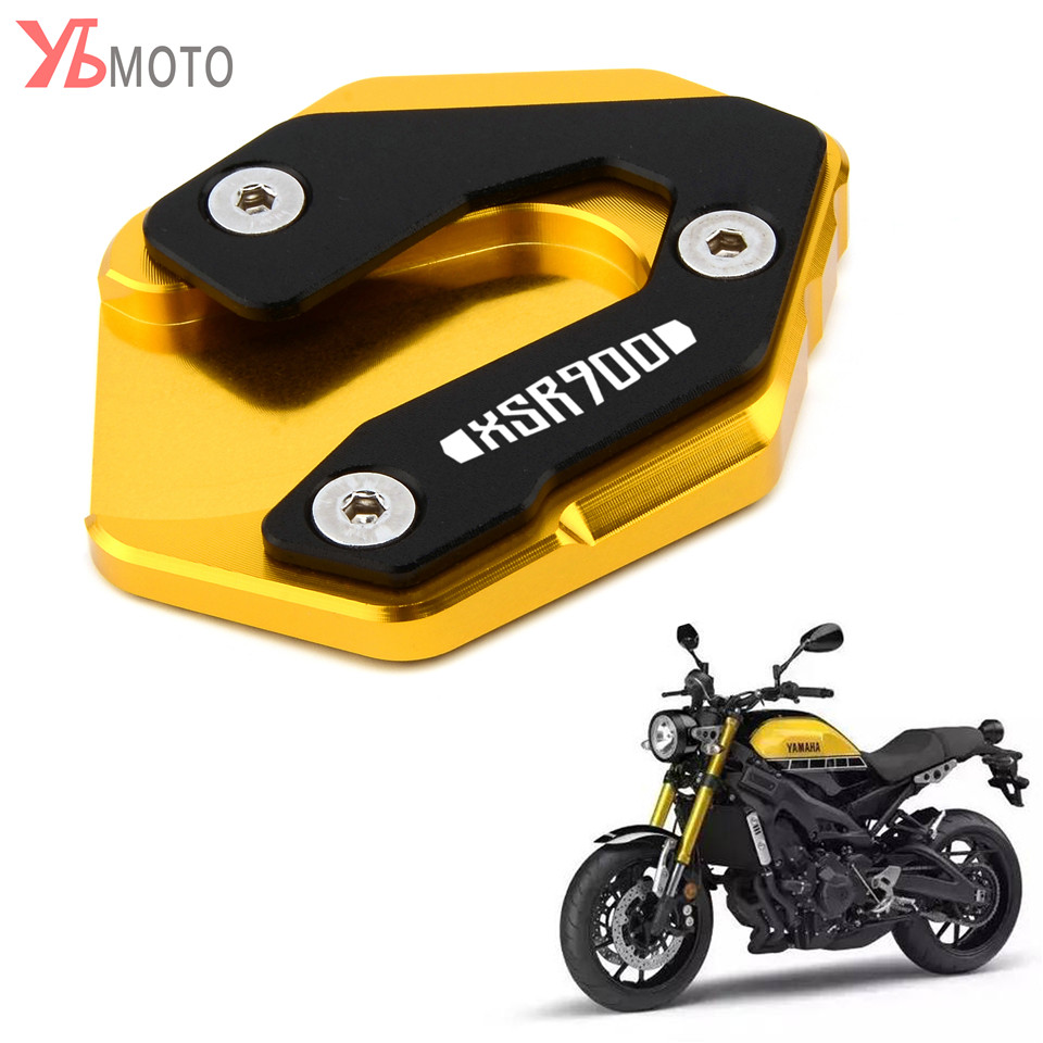 Top Brands For YAMAHA MT-09 XSR900 TRACER 900 SPORT TRACKER Motorcycle Side Stand Pad Enlargement Plate Kickstand Extension