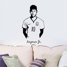 Neymar Junior Soccer Wall Sticker Sports Football Player Wall Decal For Boys Room Decor Barcelona Poster Barca Wallpaper(China)