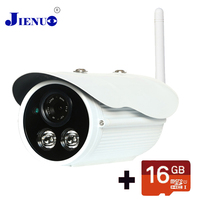 16G SD Card Video Surveillance Cameras WiFi IP Camera 1080P CCTV Cameras Outdoor IP Camera wi fi Waterproof P2P HD Onvif JIENU