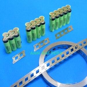 Image 3 - Tira de níquel puro de batería de litio de 1KG, 2W 3W 4W para paquete de batería 18650, espaciado de celdas 18,5mm, barra colectora de níquel tipo W