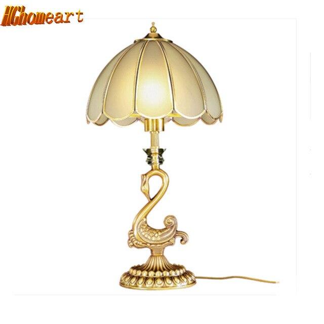 European Style Indoor Lighting Vintage Deskled Desk Lamp 240v Switch Button Living Room Bedroom Study E27 15W Reading Bed Light