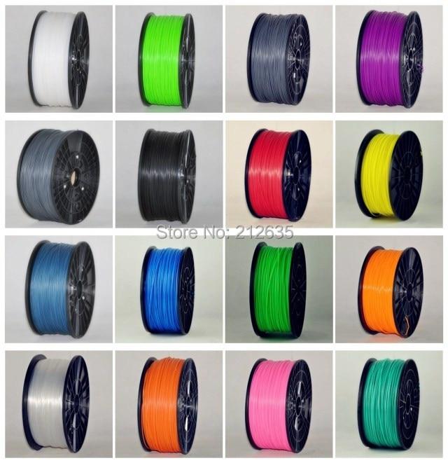 Muticolor 3d printer filaments PLA ABS 1 75mm 3mm 1kg plastic Rubber Consumables Material MakerBot RepRap