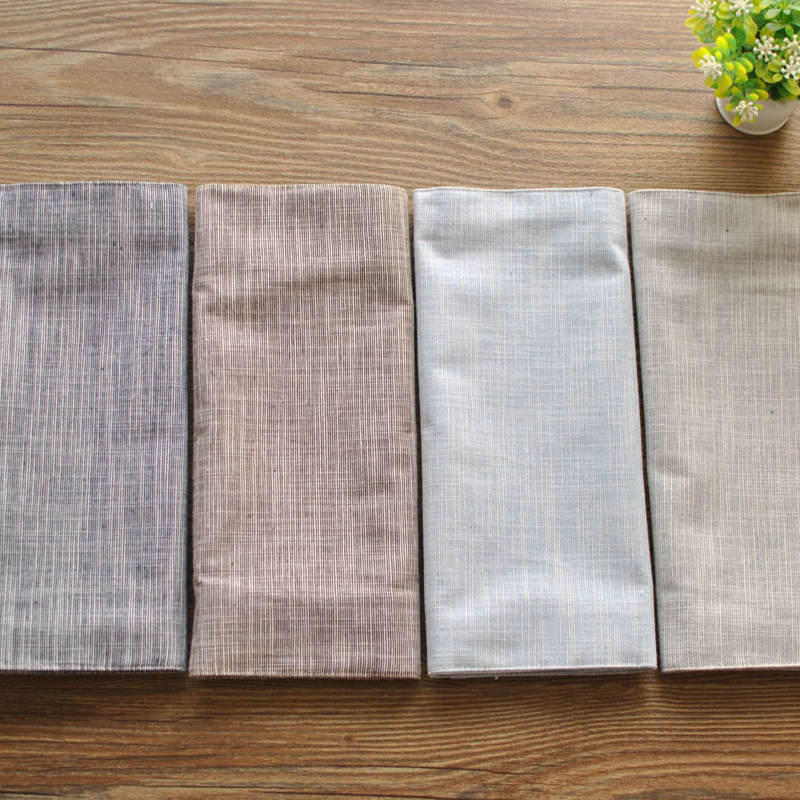 Japanese Style Cotton Linen Mats Solid Color Table Placemats Pads For Home Decoration wedding napkins cloth guardanapo napkin