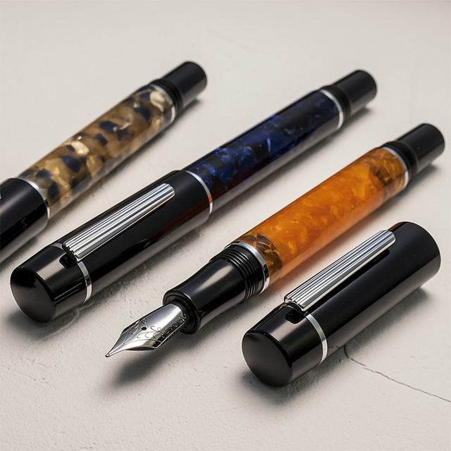WANCHER ZEN Mosaic Body [FOR LEISURE & COLLECTION] EF/F/M Nib Fountain Pen FROM JAPAN