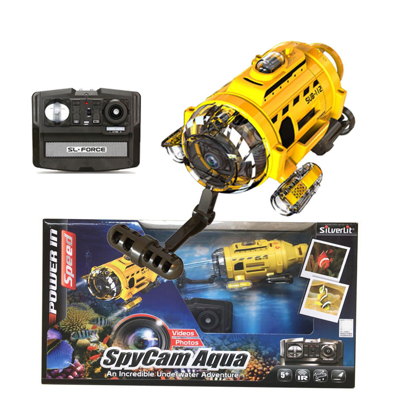 Tech RC Infrared Underwater Submarine Mini Remote Control Underwater Drone with 0 3MP Camera Feeding Fish Tool Gift for Kids in Tool Parts from Tools