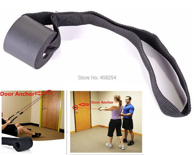 Resistance Bands Set Or One Foam Door Anchor Strap Exercise Training Attachment D-ring Gym