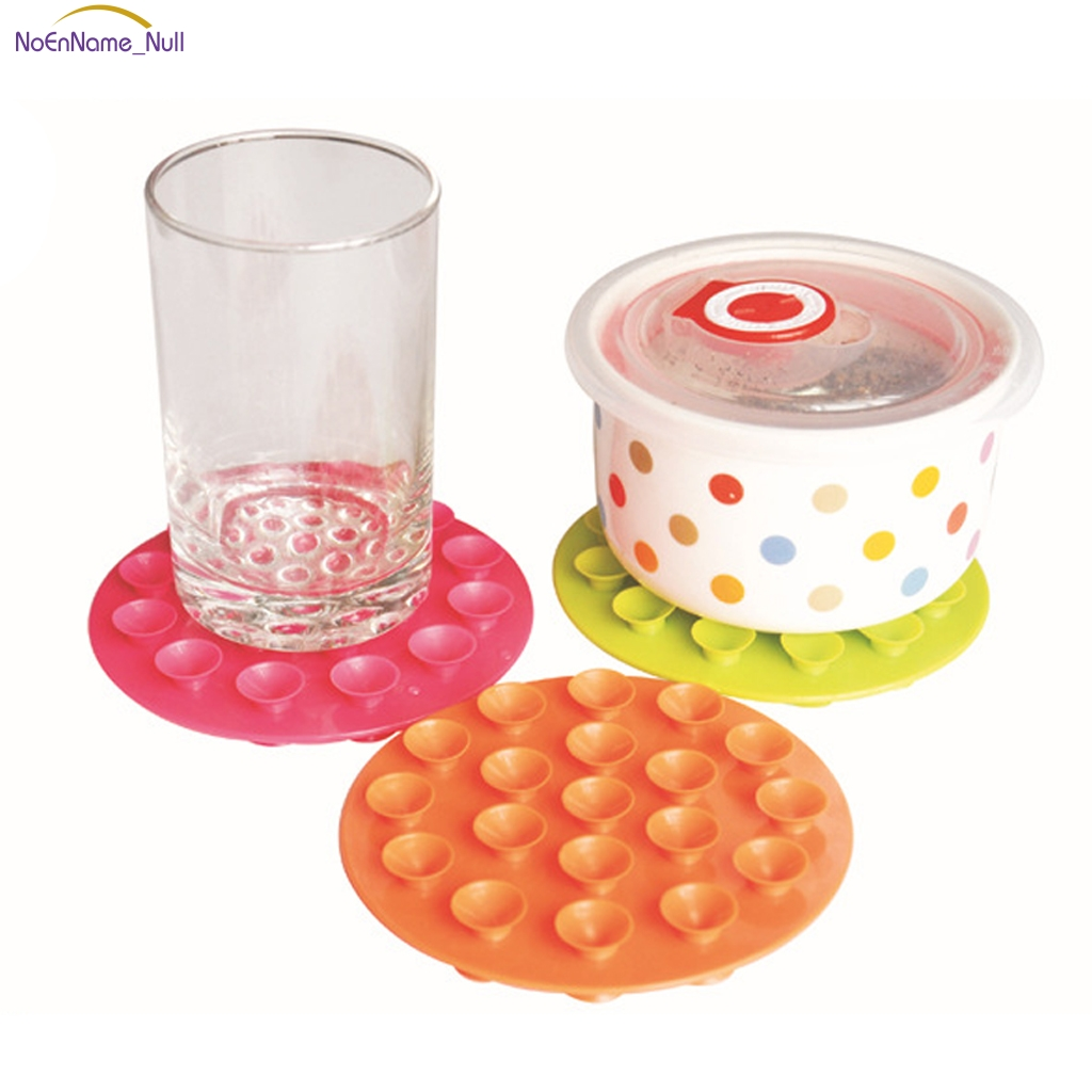1Pc Baby Feeding Bowl Cup Anti Slip Placemat Double Sided 19 Suction Sucker Mat Pads Tableware Fixed Non Slip #046