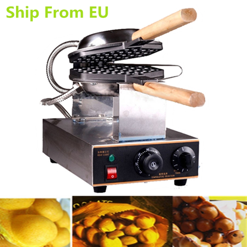 цена на Germany Stock Commercial 220V 1400W Stainless Steel Electric Eggettes Waffle Maker Machine