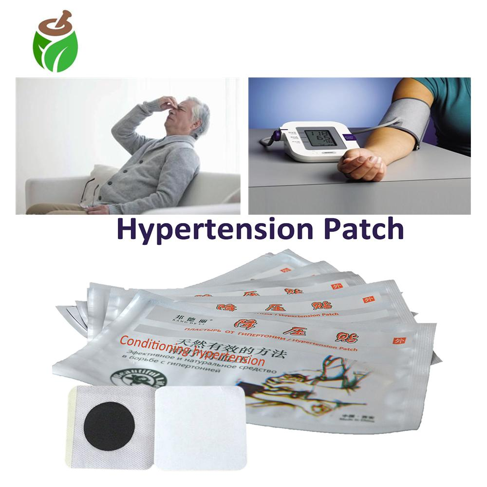 50 Pcs Chinese Medicine Hypertension Herbal Patch To Reduce Blood Pressure Headache Insomnia Reliever Treatment Neck Pain Patch image