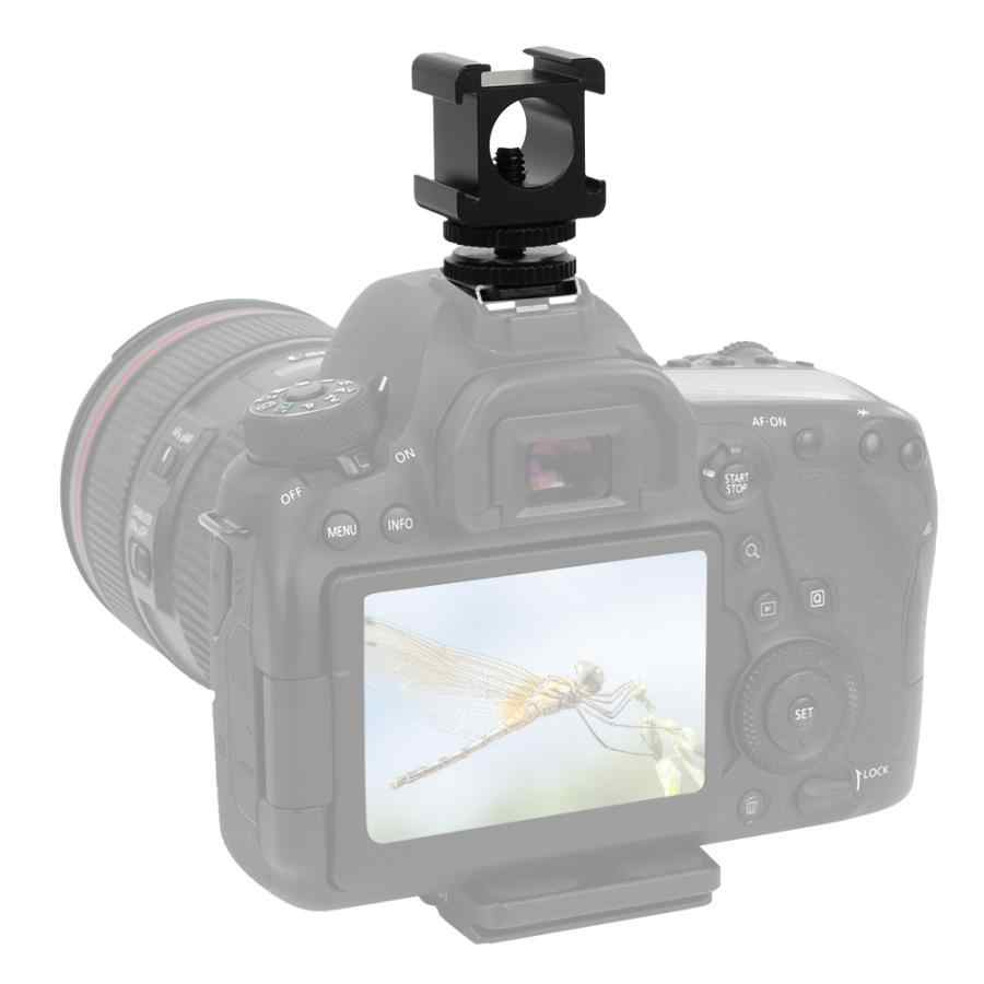 Металлическая камера три-Горячий башмак Адаптер для микрофона светодиодный видео световой монитор заполняющий свет и мягкий зонтик