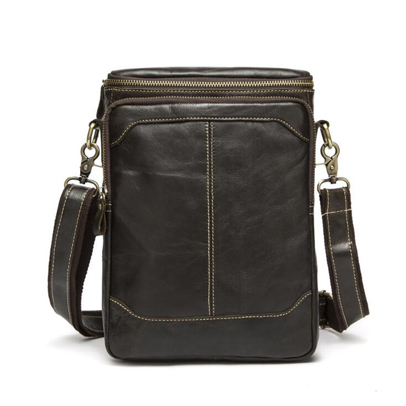 Men Genuine Leather Bag New Fashion Crossbody Bag Men Messenger Bags Casual Flap Shoulder Vintage Designer Handbags цены