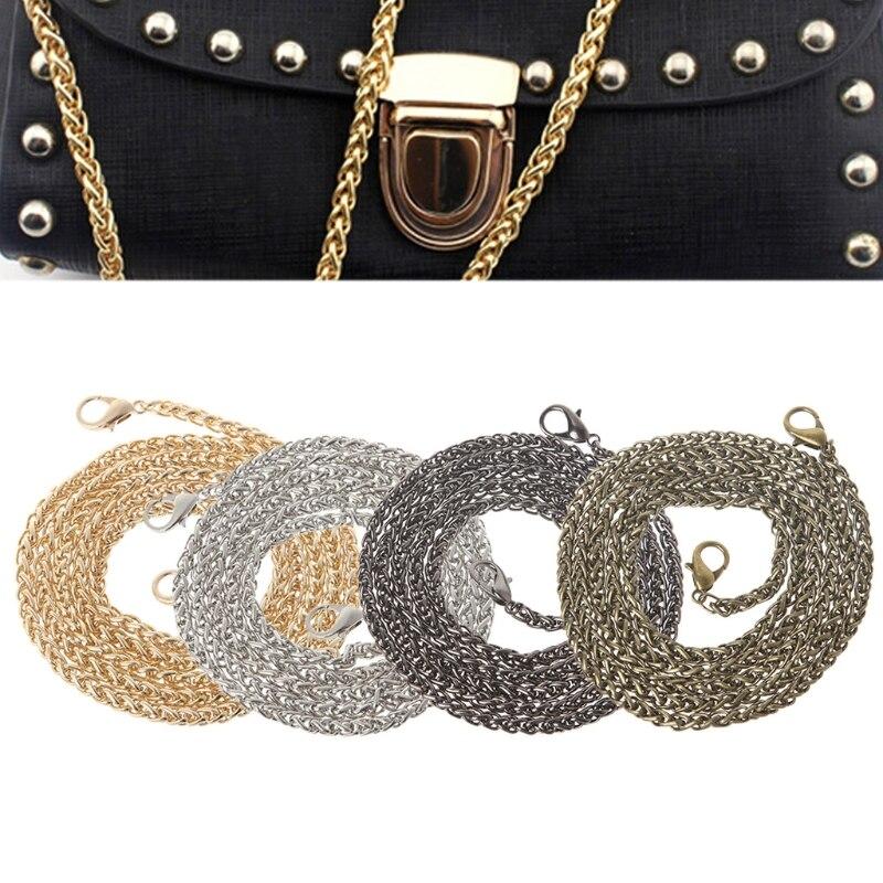THINKTHENDO Replacement Purse Chain Strap Handle Shoulder Crossbody Handbag Bag Metal 120cm