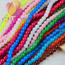 6mm Candy beads glass Round Beads Jewelry Accessories 30 pcs(China)