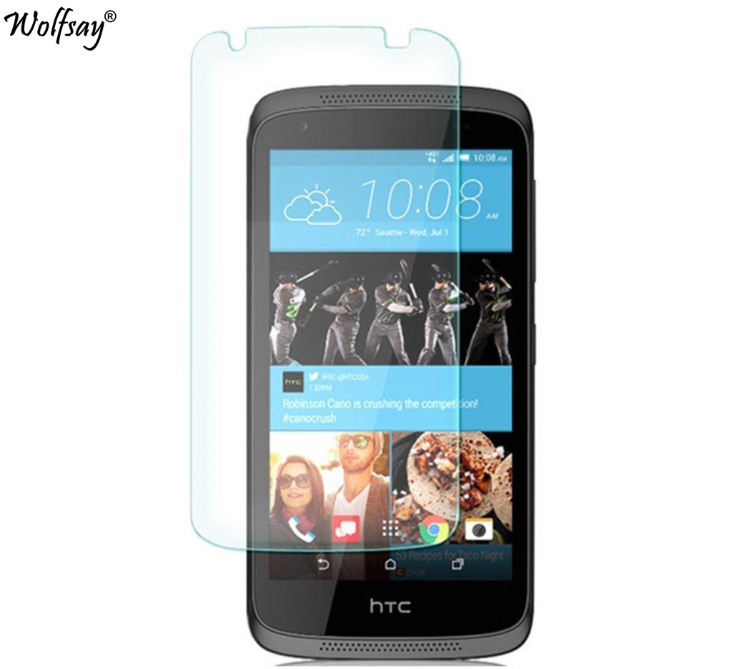 2pcs For Glass HTC Desire 526G Tempered Glass For HTC Desire 526G Screen Protector For HTC 526 Protective Film 326 326G Wolfsay