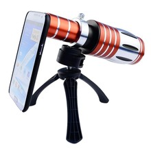High-end 50X Metal Telephoto Zoom Lens For iPhone 5 5s 6 6s 7 Plus Telescope Mobile Phone 3in1 Kit Camera Lenses For iphone 5 6