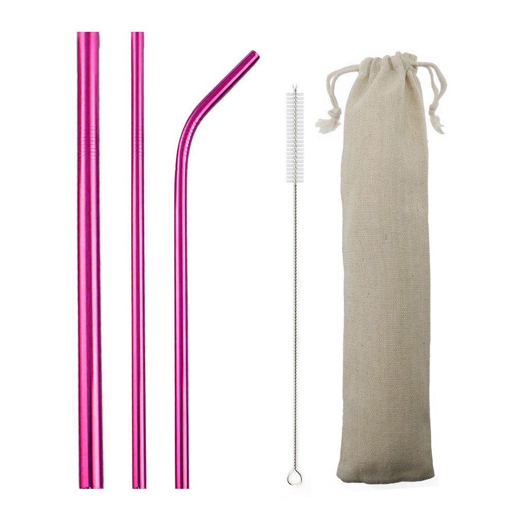 5 шт., соломинки из нержавеющей стали 304, 12 мм, многоразовые, изогнутые, прямая соломинка, набор соломинок, вечерние аксессуары