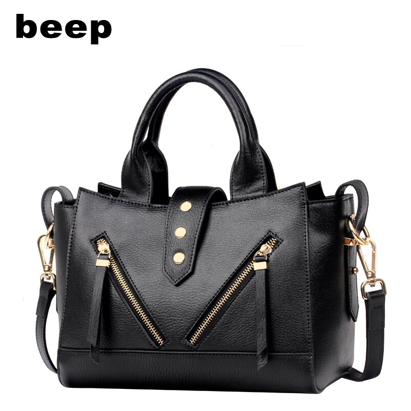 Beep Brand 2017 New Superior cowhide Leisure fashion Leather bag tote Weave  butterfly women leather shoulder bag  women's bag beep beep go to sleep