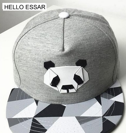 Panda plastic hat cotton   baseball     cap   flat-brimmed hat visor   caps   travel hip-hop #70027