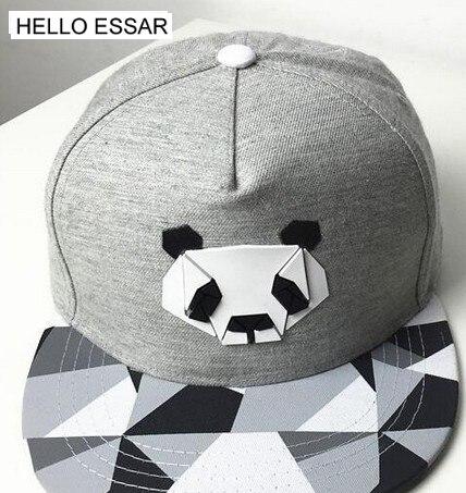 Sombrero de plástico de Panda, gorra de béisbol de Hojas de arce, gorra de visera plana, gorra de viaje de hip-hop, regalo 70027