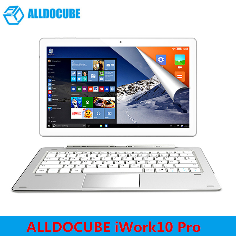 ALLDOCUBE iWork10 Pro 2 in 1 Tablet PC 10.1'' Windows 10 Android 5.1 Intel Cherry Trail x5-Z8350 Quad Core 1.44GHz 4GB 64GB HDMI