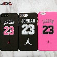 JSPYL Fashion Number 23 Jordan PC Case For Apple iPhone 8 7 Plus SE 5 5S Back Mate Bag Cover For iPhone 6 6s Plus Carcasa Fundas