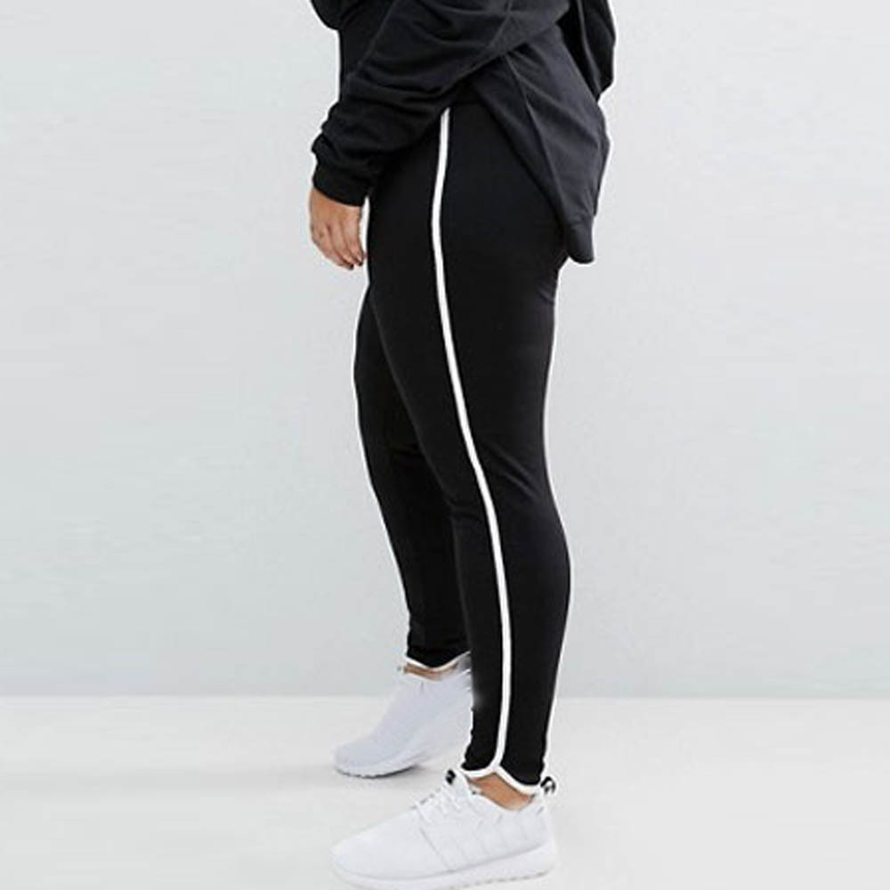 New Women Plus Size Elastic Leggings  Block Mesh Splicing Sport Pants Sport Pants !