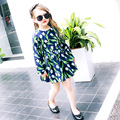 flower printed baby little teenagers girl party dress princess summer dress girl 2017 new kids dresses for girls 10 11 12 years