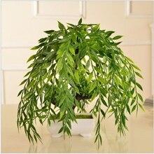 Искусственный Добро пожаловать сосновый зеленый Растительный горшок культуры маленький бонсай стол украшение домашнего декора посуда № 190022